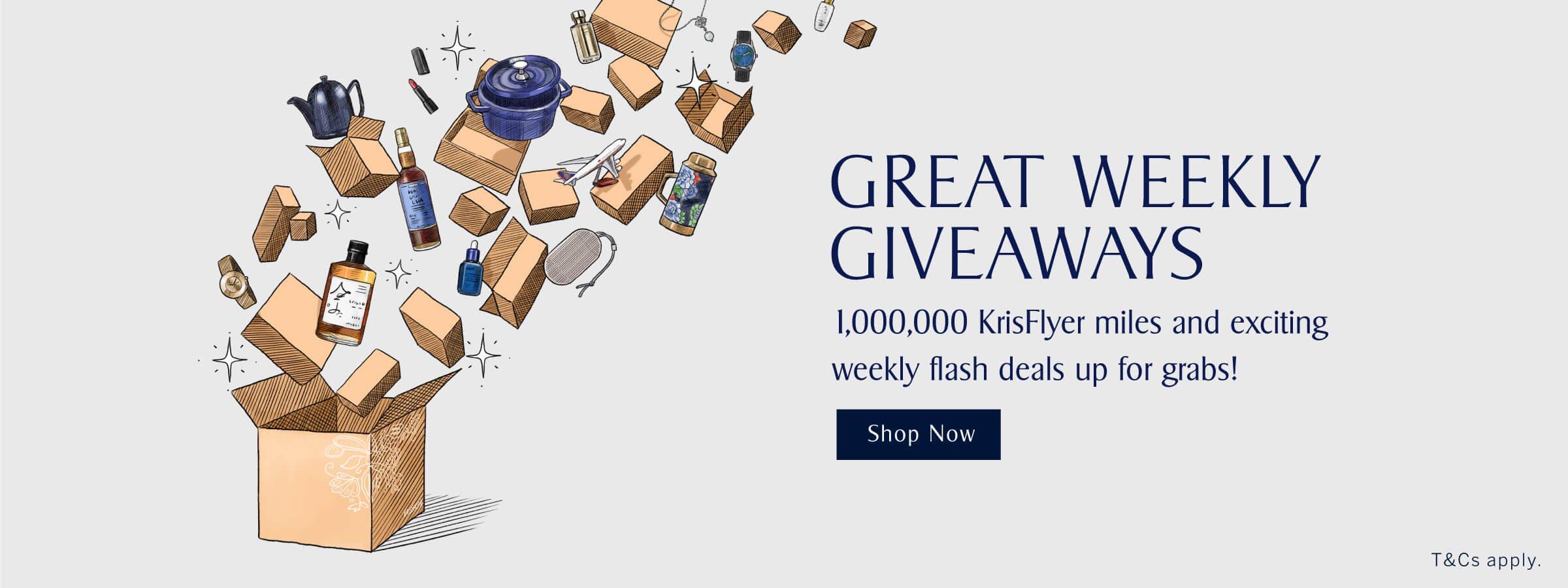 KrisShop Great Weekly Giveaways