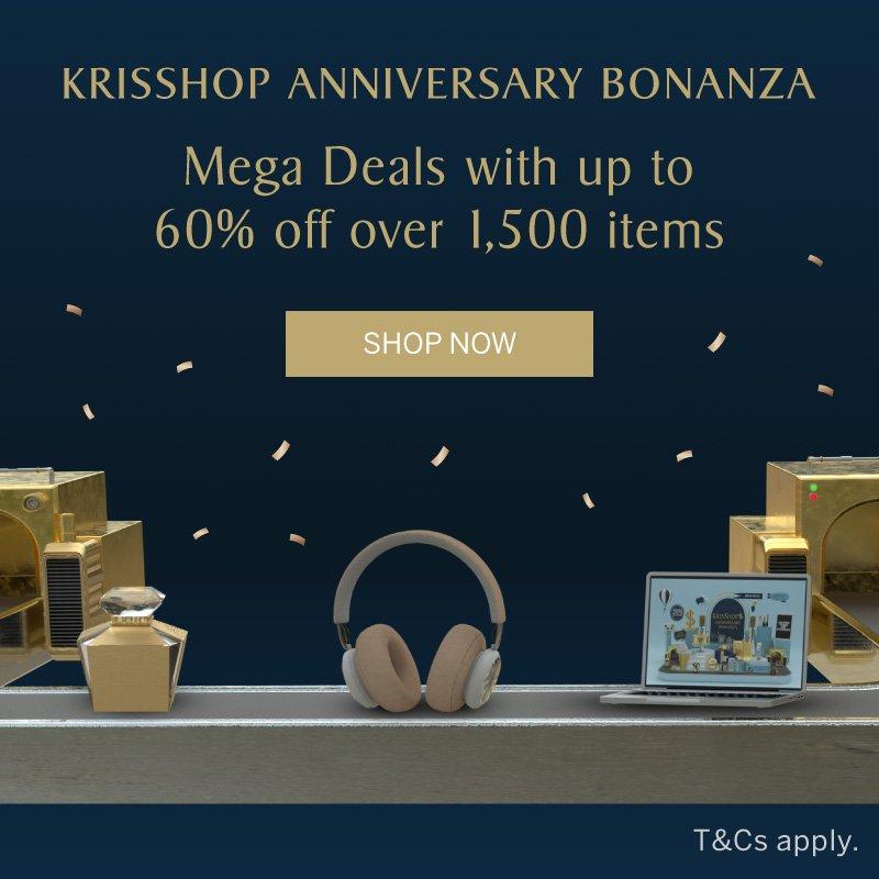 KrisShop Anniversary Bonanza - Enjoy mega deals at up to 60% off