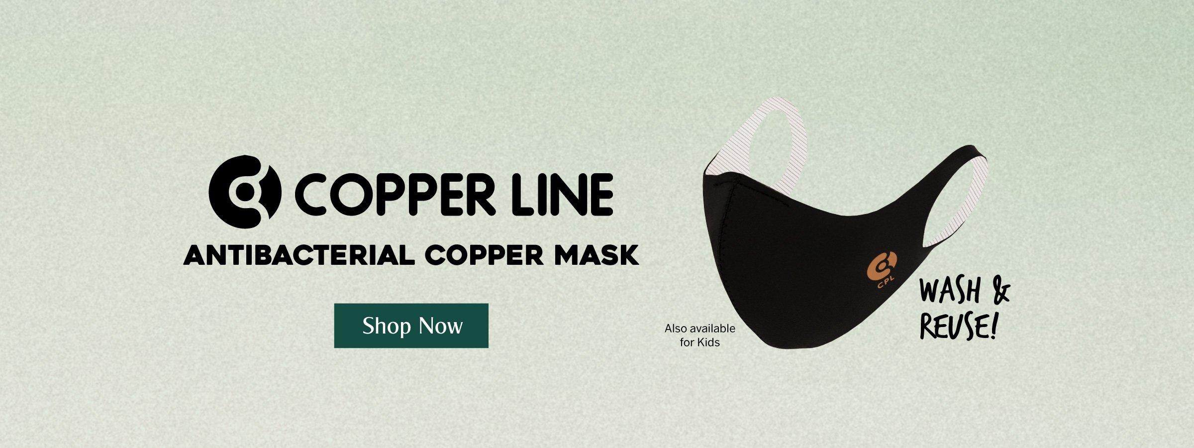 Copper Line Antibacterial Copper Mask