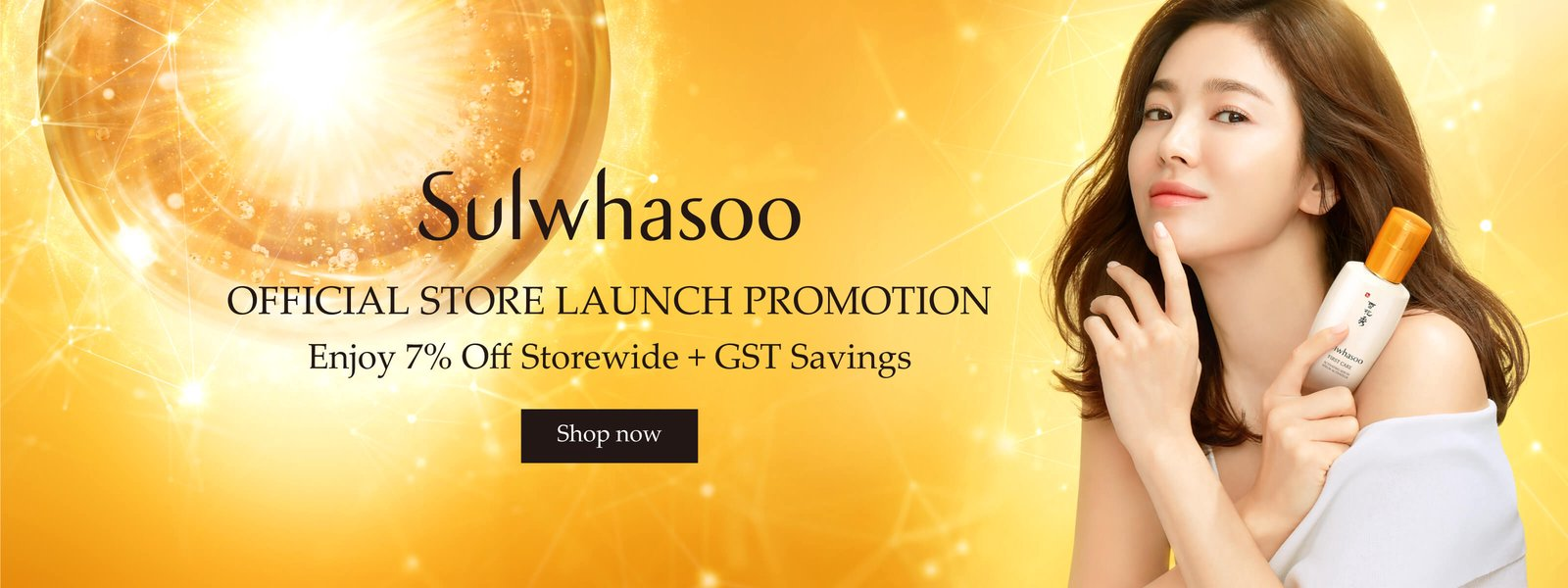 Sulwhasoo Official Store Launch - Enjoy 7% off + GST Savings storewide