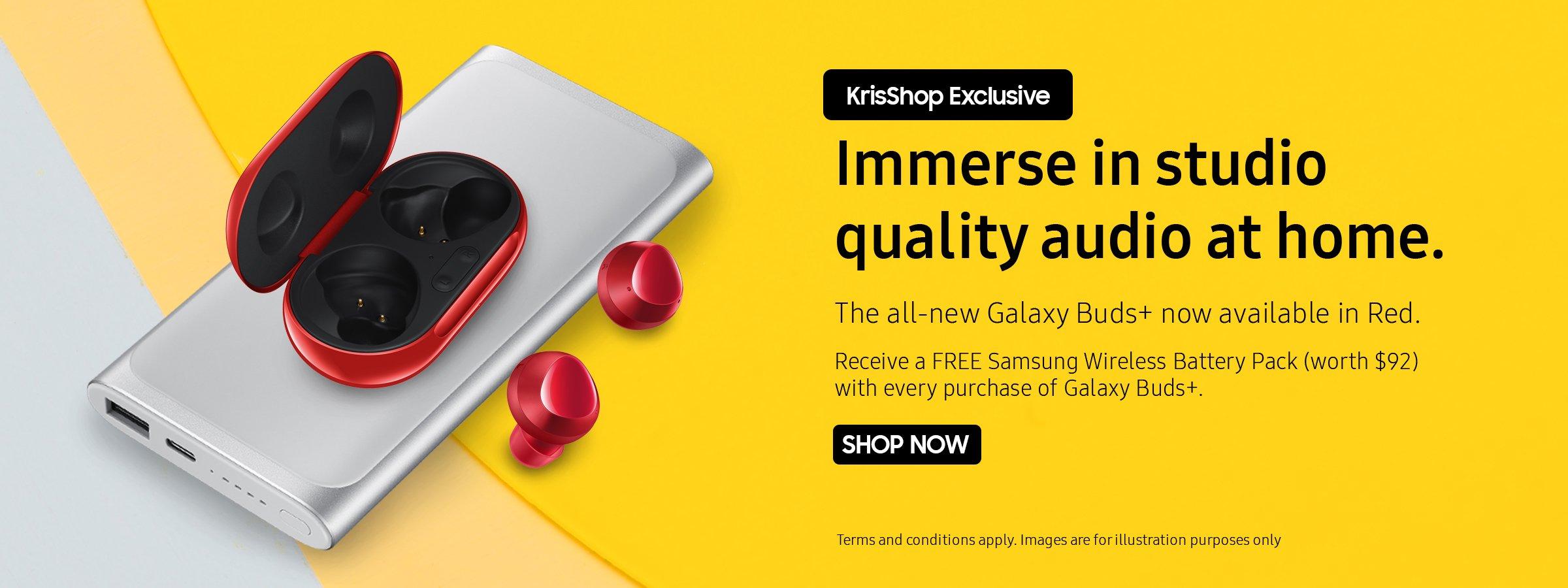 Samsung x KrisShop Exclusive - All-new Galaxy Buds+