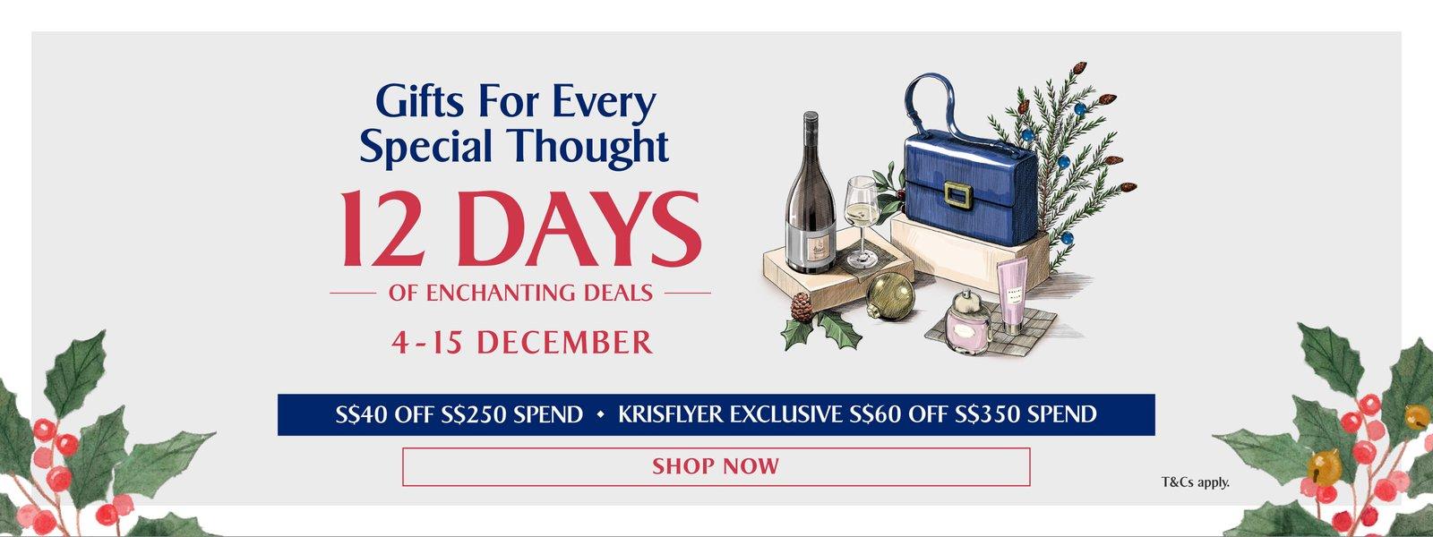 KrisShop.com 12 Days of Enchanting Deals