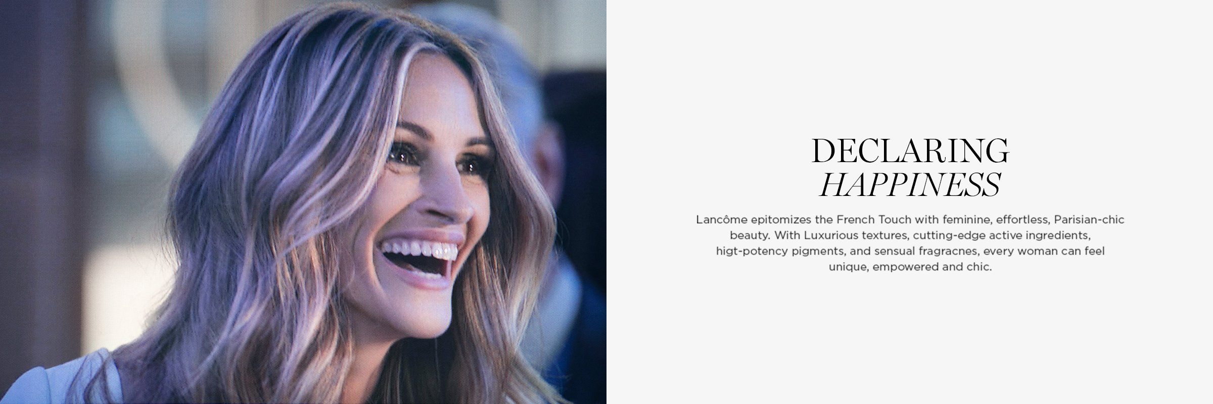 Lancome - Declaring Happiness