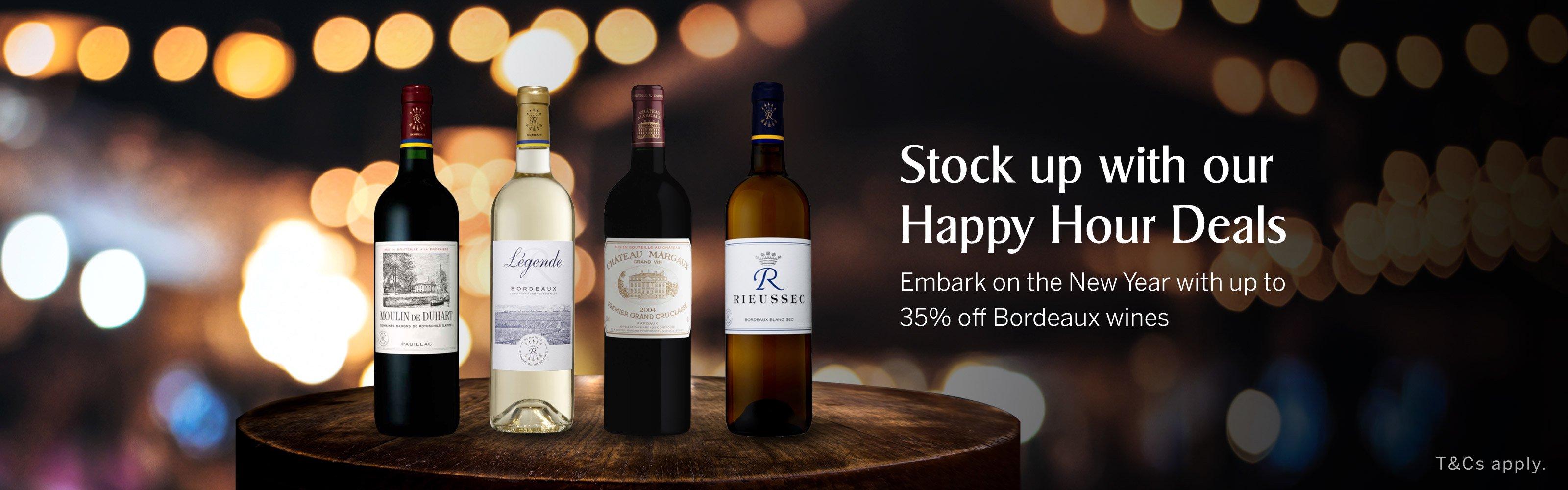 January 2021 - Liquor Deals - Up to 35% off Bordeaux wines
