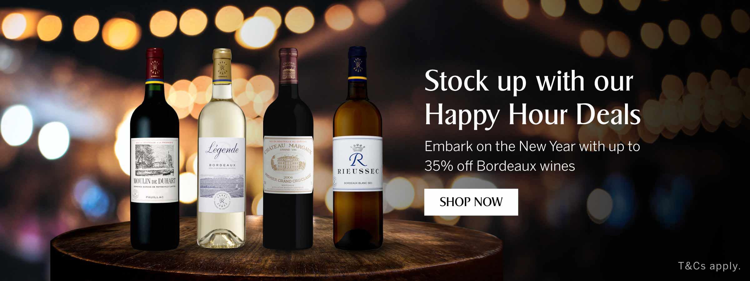 KrisShop Happy Hour Deals - Up to 35% off Bordeaux Wines