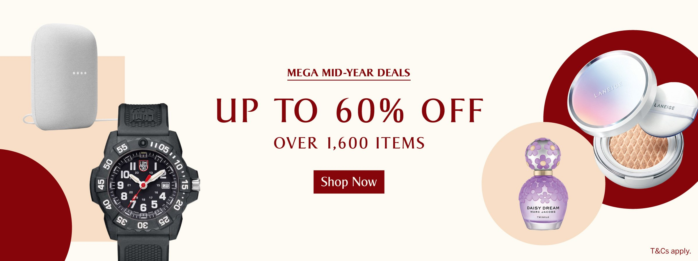 Up to 60% off over 1,600 items