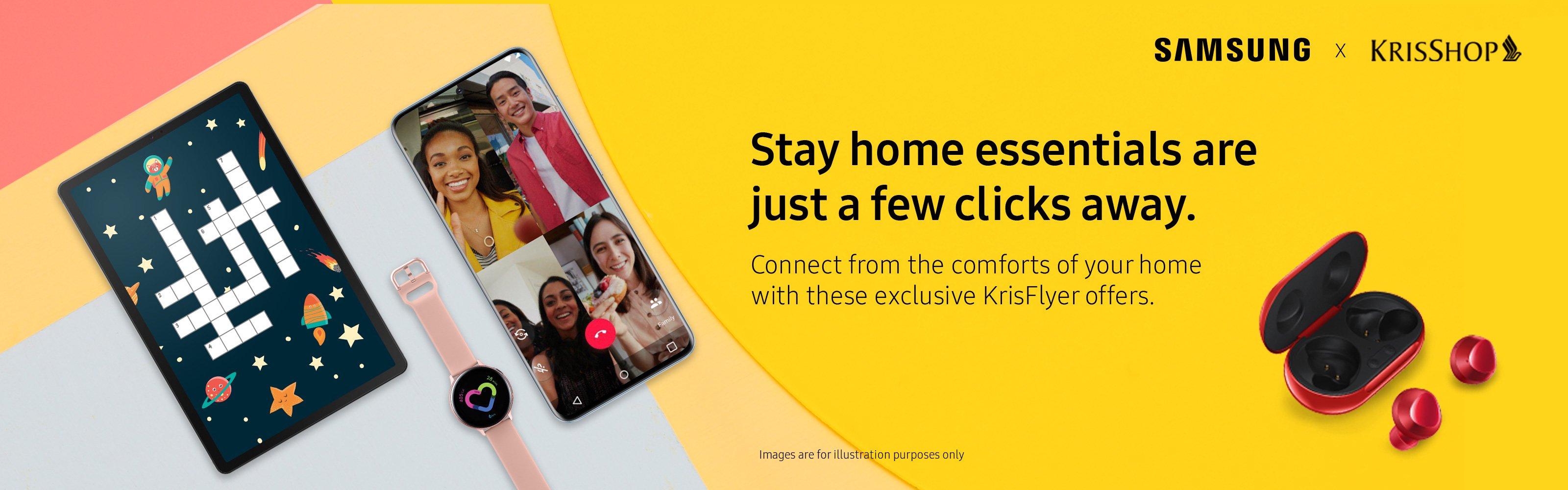 Samsung x KrisShop Stay Home Essentials