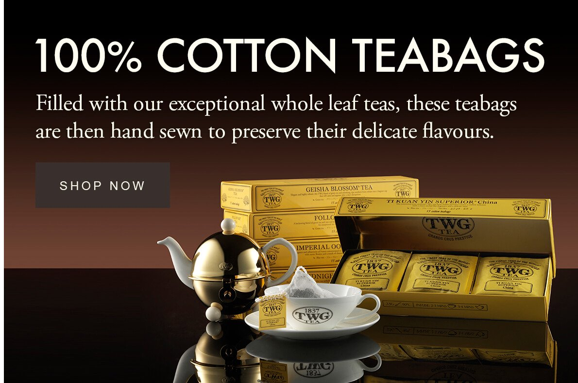 TWG Tea - 100% Cotton Teabags