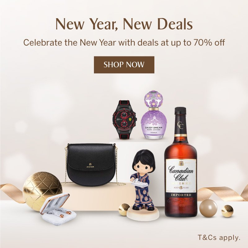 New Year, New Deals at up to 70% Off