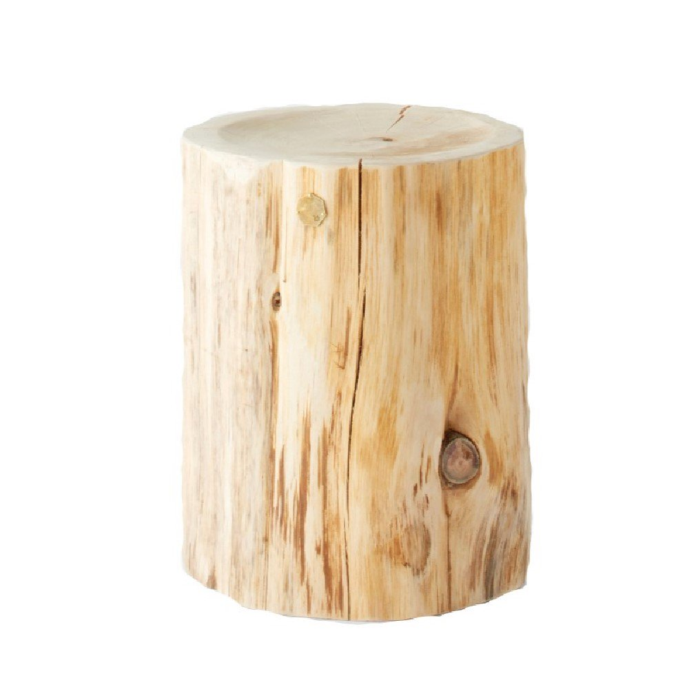 Atomi Natural Japanese Hiba Wood Wide Side Table High Atomi